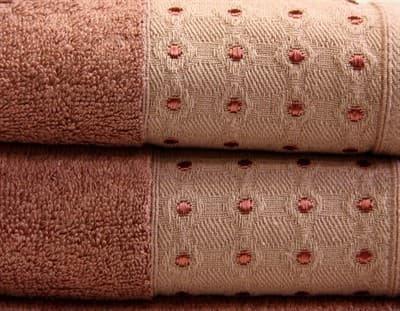 Рушник махр Bamboo Puan 70*140 сливовий 520г/м2 - фото 8965