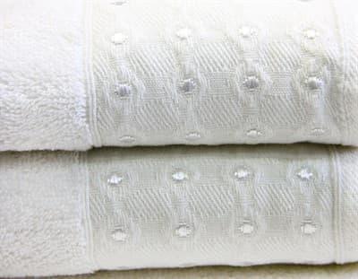 Рушник махр Bamboo Puan 50*90 молочний 520г/м2 - фото 8998