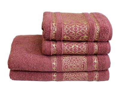 Рушник махр Imperial 70*140 т.рожевий 480г/м2