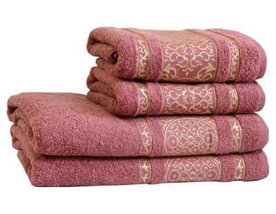 Рушник махровий Imperial 70*140 т.рожевий 480г/м2 - фото 9006