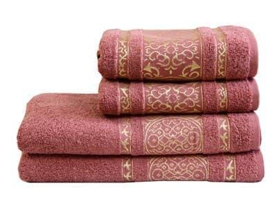 Рушник махровий Imperial 70*140 т.рожевий 480г/м2 - фото 9007