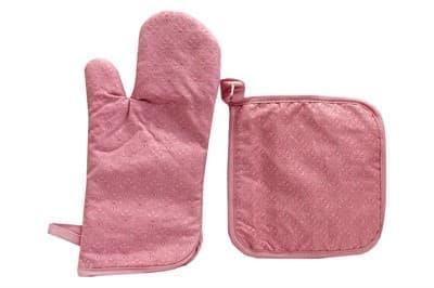 Набір д/кухні CHEF LUX прихватка + рукавиця силікон/бавовна PEMBE DESENLI - фото 9353