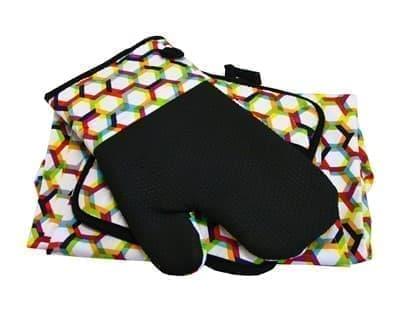 Набір для кухні CHEF DELUX фартух+прихватка+рукавиця RENKLI PETEK - фото 9380