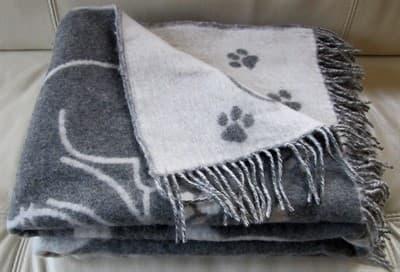 "Плед Vladi жаккард ""Cats"" 140*200 сірий (нов) - фото 9656"