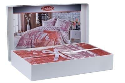 Hobby Exclusive Sateen Alandra рожевий 200*220/4*50*70 * - фото 9772