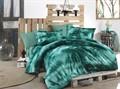 КПБ Hobby Batik Gizem зелений 200*220/2*50*70 - фото 6021