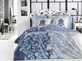 КПБ Hobby FLANNEL Mirella синій 200*220/2*50*70 - фото 6437