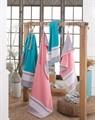 Рушник NAZENDE 70*140 рожевий/сірий 560г/м2 - фото 8446