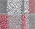 Рушник NAZENDE 70*140 рожевий/сірий 560г/м2 - фото 8448