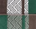 Рушник NAZENDE 70*140 зелений/коричневий 560г/м2 - фото 8463