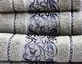 Рушник махровий Ottoman 70*140 сірий 450г/м2 - фото 8955