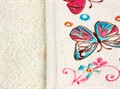 Рушник махровий Метелик 30*50 кольоровий 350г/м2 - фото 9286