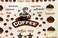 Рушник махровий Кофе тайм 30*50 коричневий 350г/м2 - фото 9291