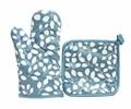 Набір д/кухні CHEF LUX прихватка + рукавиця силікон/бавовна YESIL YAPRAK - фото 9330
