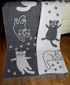 "Плед Vladi жаккард ""Cats"" 140*200 сірий (нов) - фото 9657"