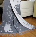 "Плед Vladi жаккард ""Cats"" 140*200 сірий (нов) - фото 9658"